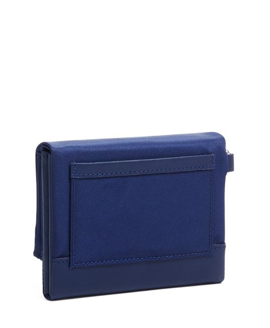 FLAP CARD CASE Blue - large | Tumi Thailand