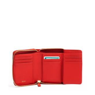 TRI FOLD ZIP-AROUND Red - medium | Tumi Thailand