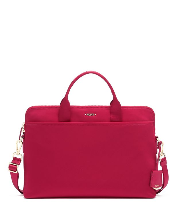 Joanne Laptop Carrier in Raspberry