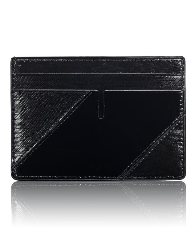 Slim Card Case in Black/Patent