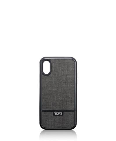 buy online fe99e 8e6fd Kickstand Case iPhone XR - Mobile Accessory - Tumi United States - Pewter