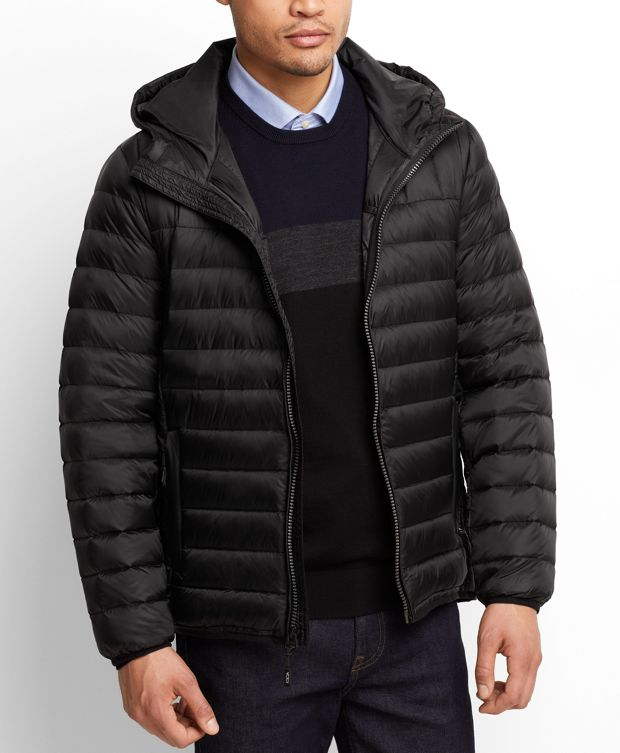 Crossover Hooded Jacket in Black
