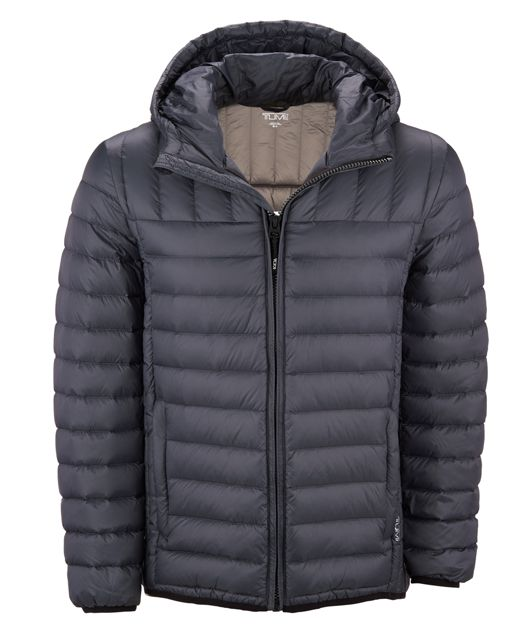 Crossover Hooded Jacket in Charcoal
