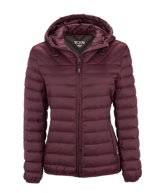 Estes Hooded Jacket in Maroon
