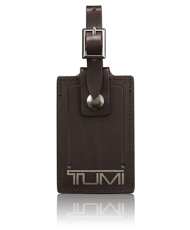 Luggage Tag in Dark Brown