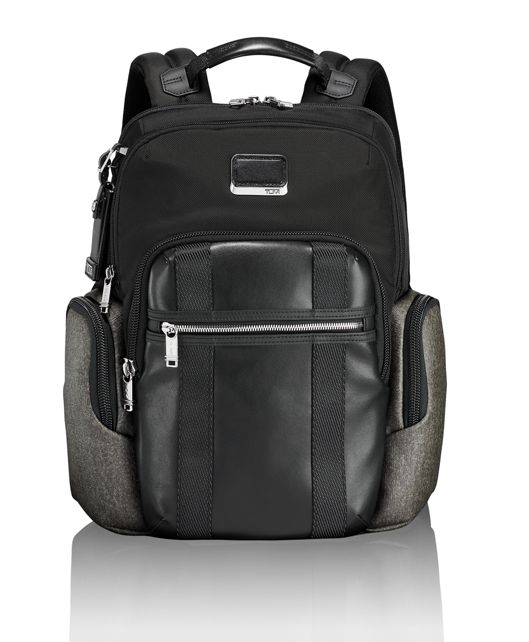 Nellis Backpack in Earl Grey/Black