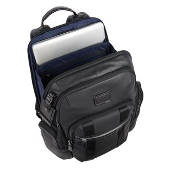 Nellis Backpack Leather in Matte Black