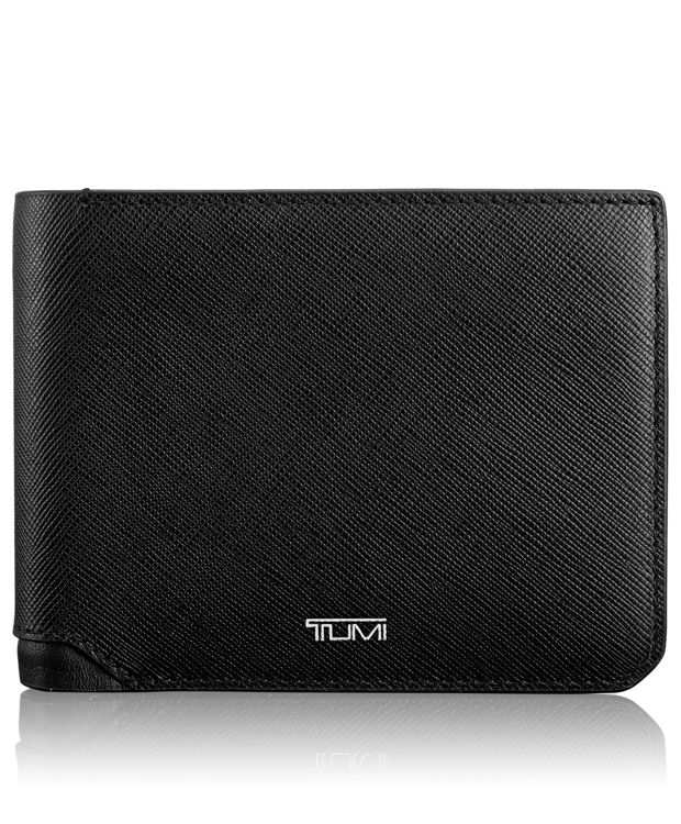 Global Double Billfold in Black