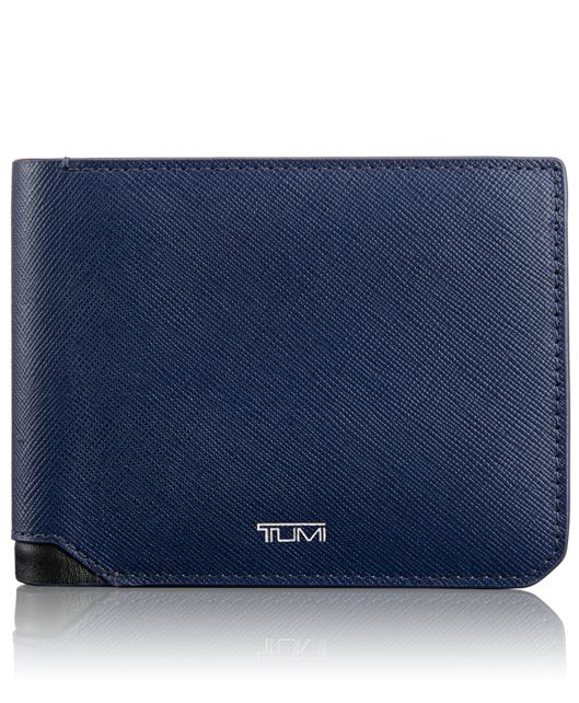 Global Double Billfold in Indigo