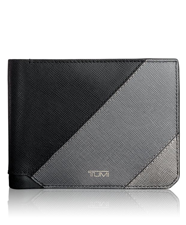 Global Double Billfold in Pieced Leather