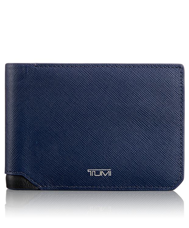 Double Billfold in Indigo