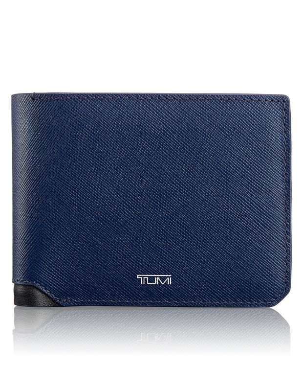 Global Wallet with Coin Pocket in Indigo