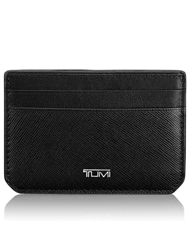 Money Clip Card Case in Black