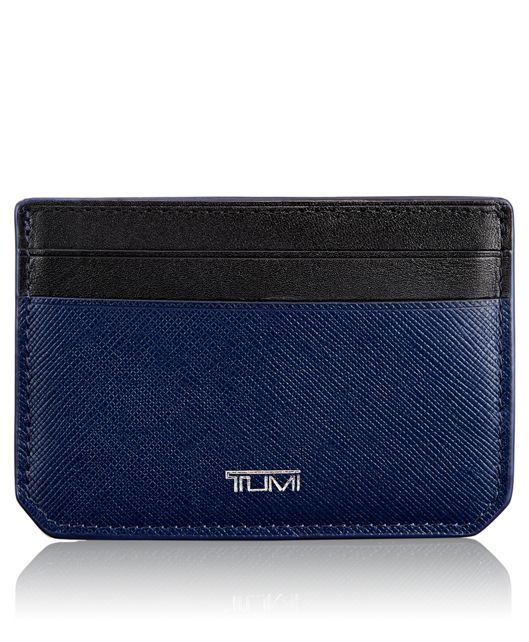 Money Clip Card Case in Indigo