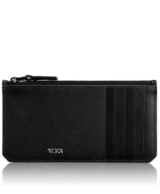 Long Zip Card Case in Black