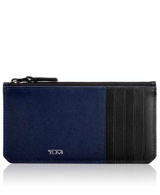 Long Zip Card Case in Indigo