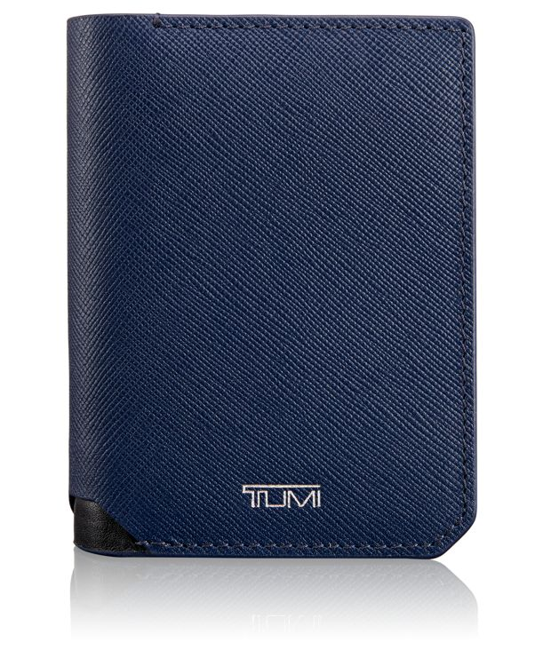 Gusseted Card Case with ID in Indigo