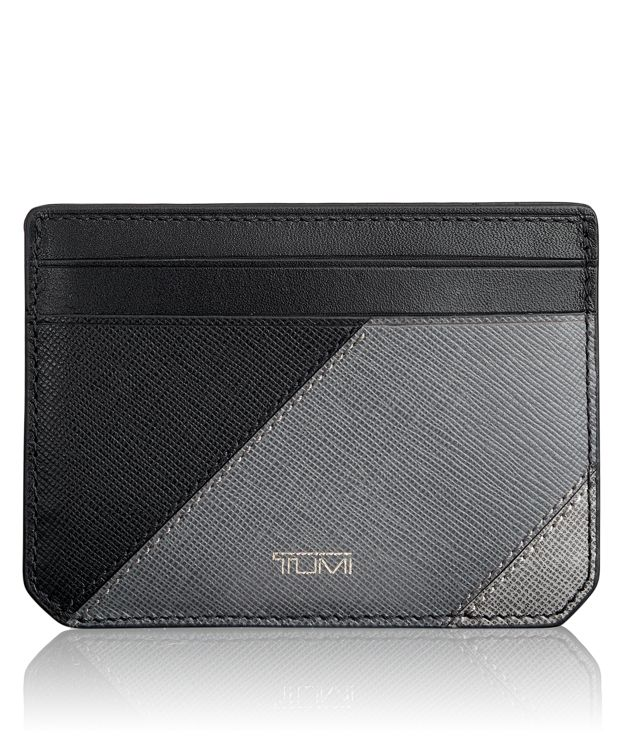 Slim Card Case ID in Pieced Leather