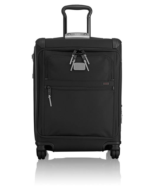 Continental Expandable 4 Wheeled Front Lid Carry-On in Metallic Silver