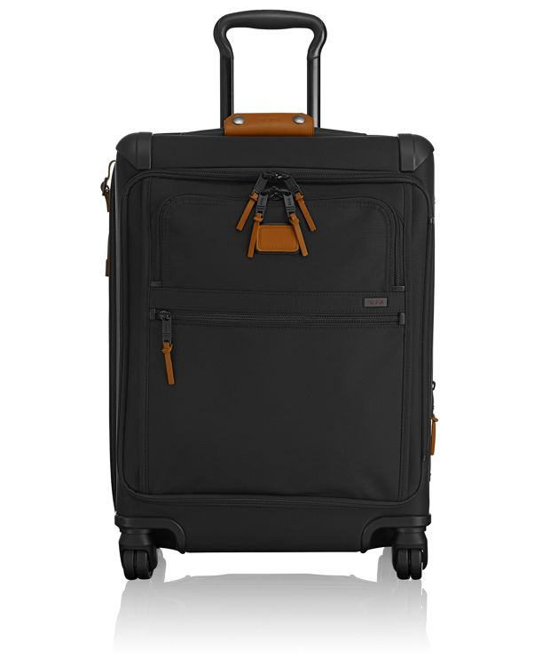 Continental Expandable 4 Wheeled Front Lid Carry-On in Tan