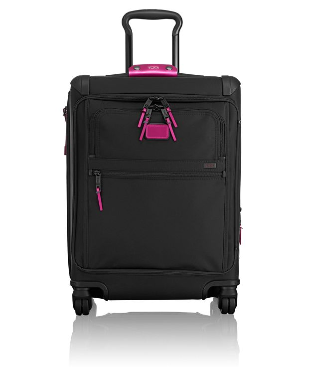 Continental Expandable 4 Wheeled Front Lid Carry-On in Metallic Pink