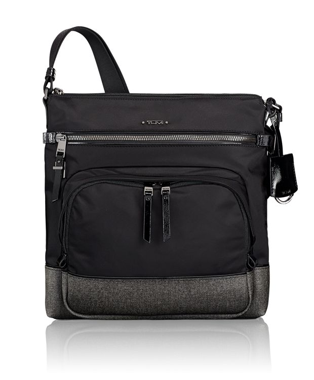 Canton Crossbody in Earl Grey/Black