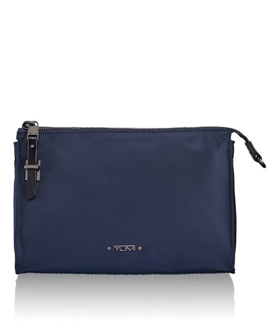 Basel Small Triangle Pouch in Navy