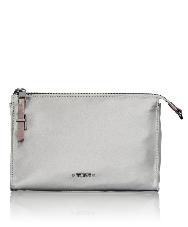 Basel Small Triangle Pouch in Silver