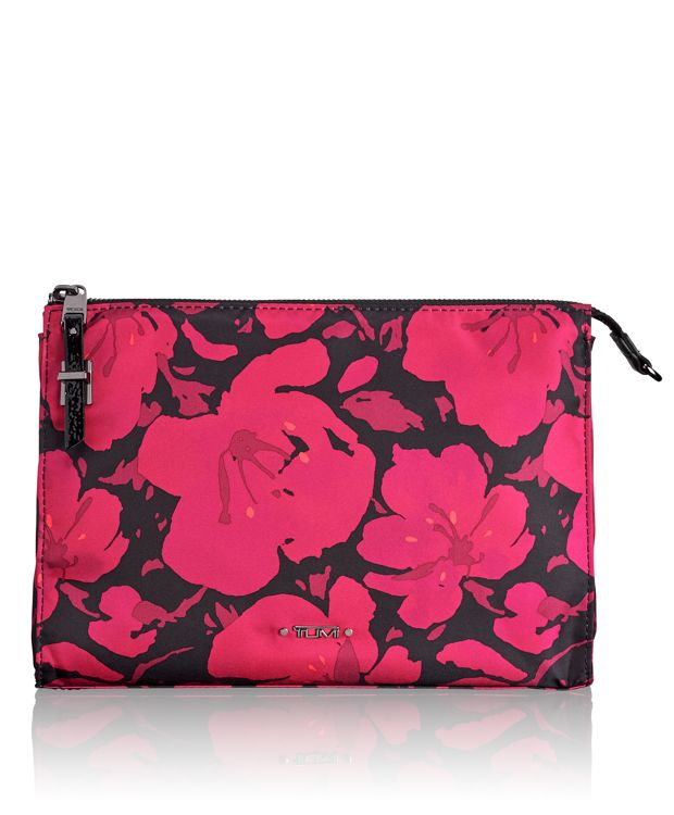 Basel Triangle Pouch in Magenta Floral