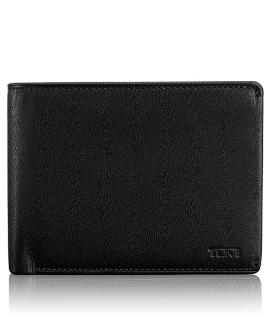 Global Double Billfold with ID in Black