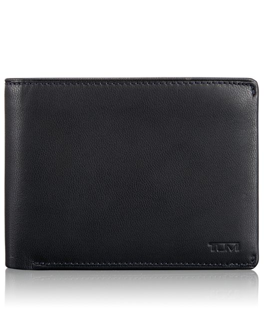 Global Double Billfold with ID in Navy