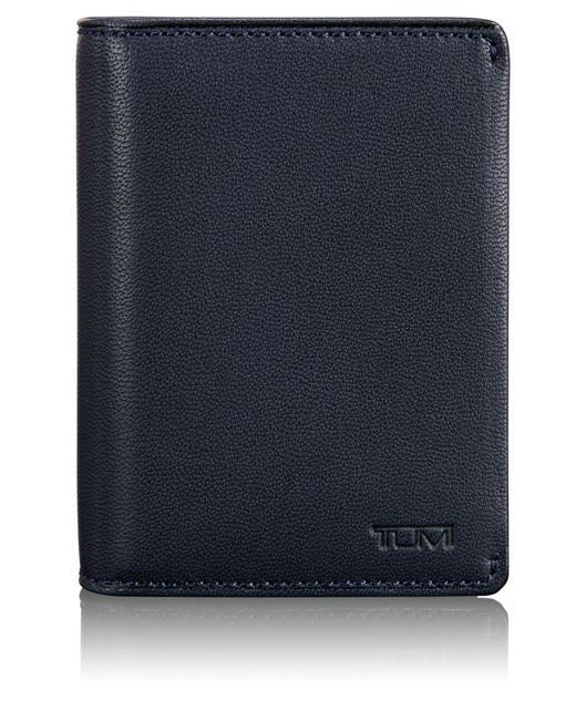 Gusseted Card Case in Navy