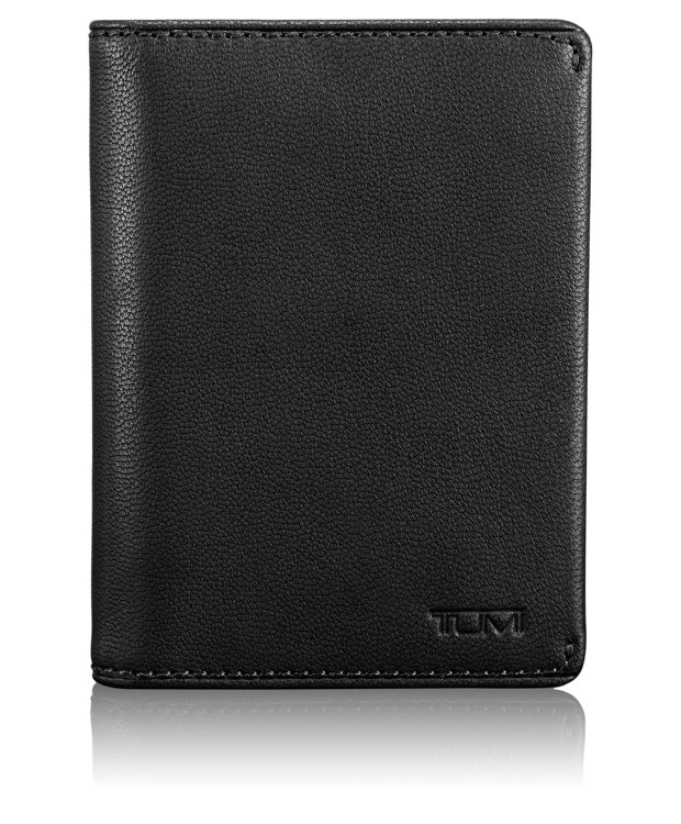 Folding Card Case in Black