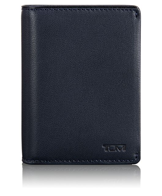 Folding Card Case in Navy