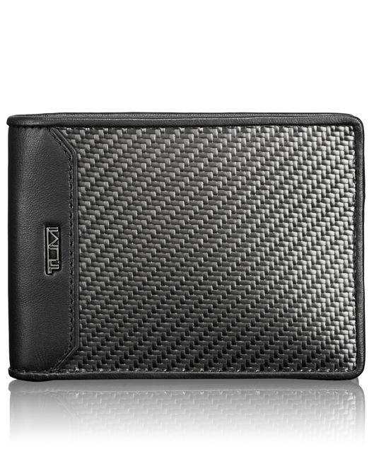 Carbon Fiber Double Billfold in Carbon