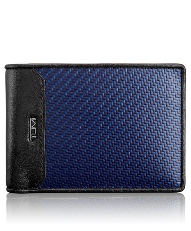 Carbon Fiber Double Billfold in Navy