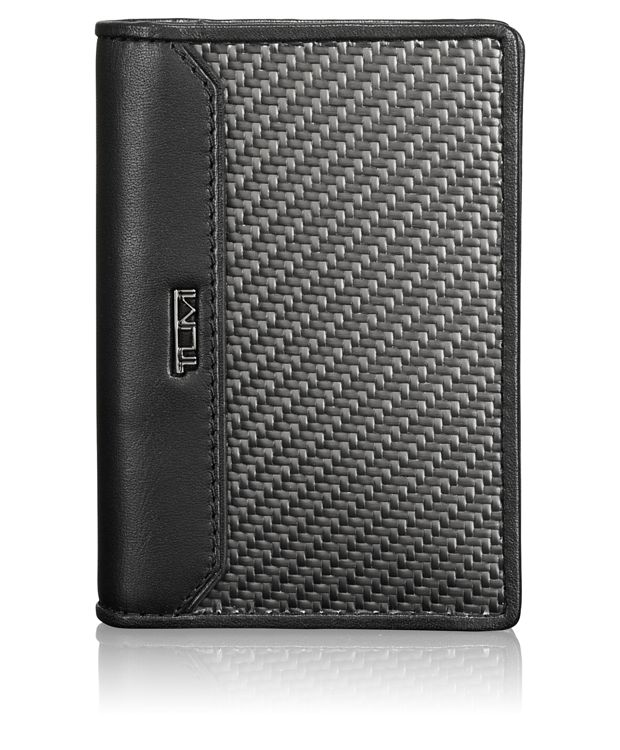 Carbon Fiber Gusseted Card Case in Carbon