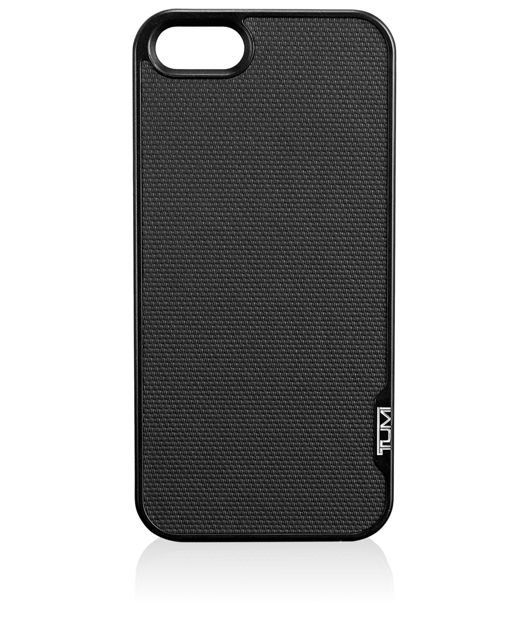TUMI Leather Snap Case for iPhone SE in Black