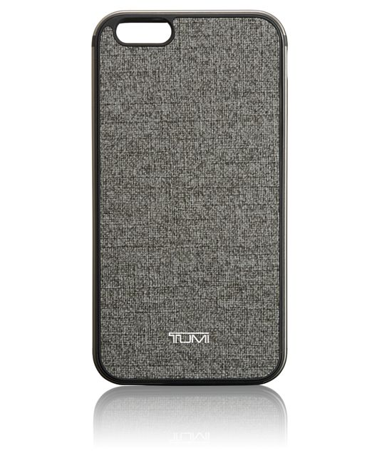 TUMI Two Piece Case for iPhone 6 Plus and 6S Plus in Earl Grey w/Gunmetal