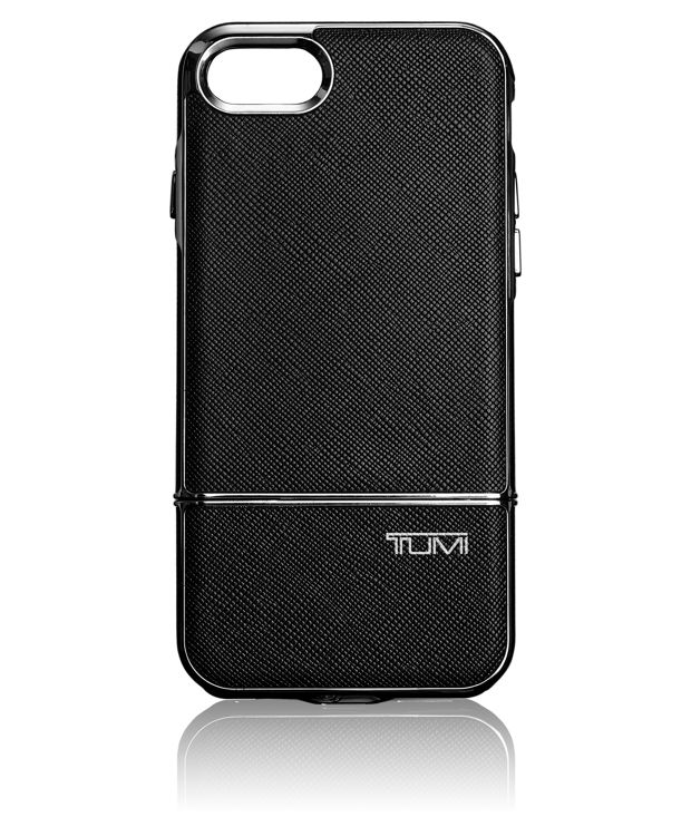 TUMI Two Piece Slider Case for iPhone 7 in Black/Silver