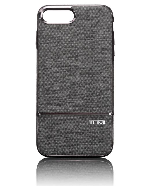 TUMI Two Piece Slider Case for iPhone 7 Plus in Grey/Gunmetal