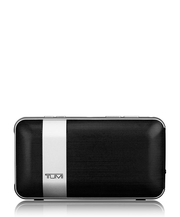 Wireless Portable Speaker with Powerbank in Black w/Silver