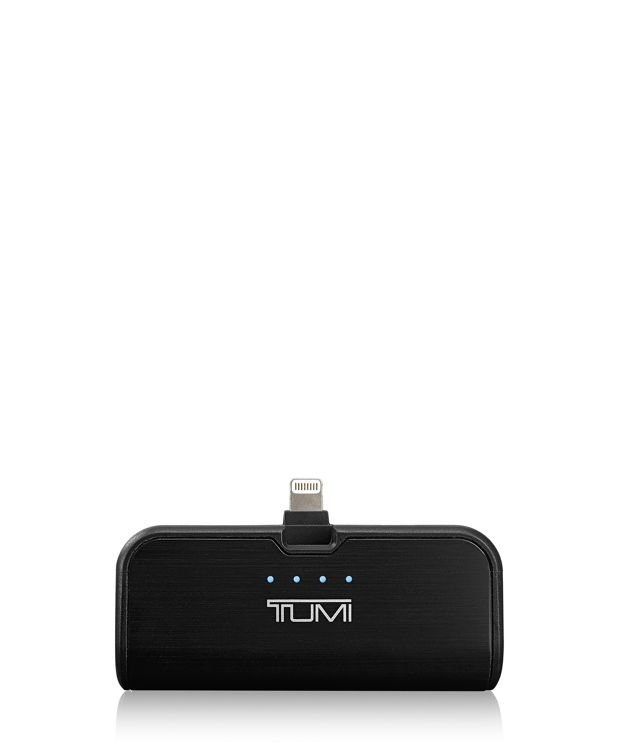 2,600 mAh Portable Battery Bank with LTG Swivel in Black