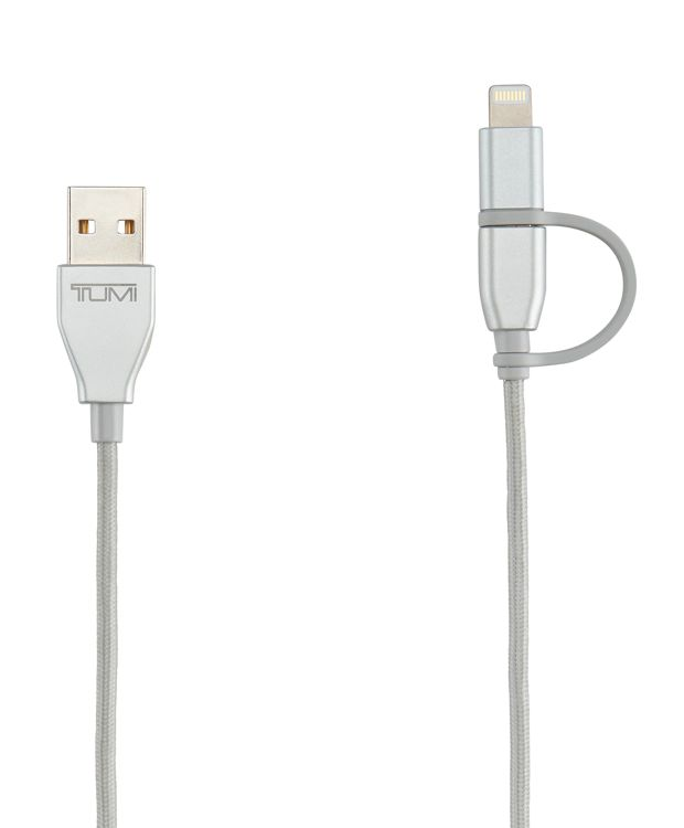 2-in-1 Cable: Lightning & Micro USB in Silver