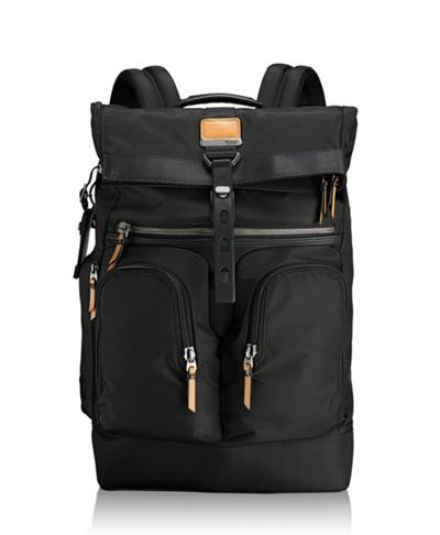 b440d81454 London Roll Top Backpack - Alpha Bravo - Tumi United States - Black