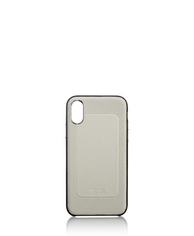 online retailer a29cf a41cc Protective Leather Co-Mold iPhone XR - Mobile Accessory - Tumi United  States - Grey