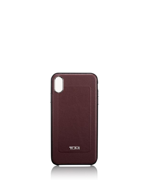 Protective Leather Co-Mold iPhone XS Max in Burgundy