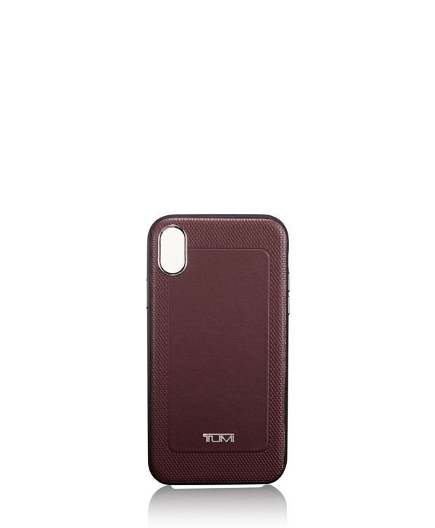 Protective Leather Co-Mold iPhone XS/X in Burgundy