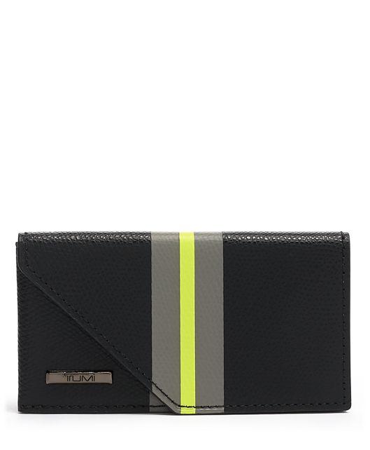 Business Card Case in Black Stripe