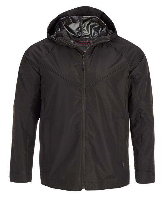 Men's Windbreaker Track Jacket in Black